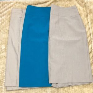 (3) pencil skirts size 12